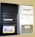 kožené pouzdro na vizitky s vyndavací vložkou - celkem na 79 ks vizitek