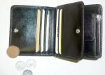 Peněženka menší kožená, zaoblené rohy, universální
