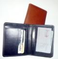 Kožené pouzdro na kreditky - zaoblené rohy