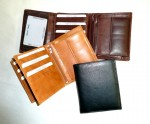 Velmi zajímavě řešená kožená pánská peněženka