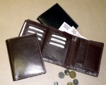Kožená pánská peněženka sportovní provedení - světlé hrubé štepování