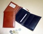 Kožená peněženka s vyndavacím dílem pouze na doklady
