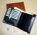 Peněženka kožená pánská - kreditky uchyceny vnitřní zápinkou