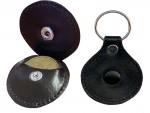 Kožený přívěsek ke klíčům na žeton na košík do marketu