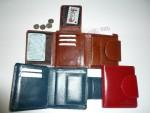 Kožená peněženka - náhled otevřené p.