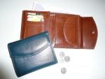 Kožená dámská klopnová peněženka luxusní