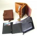 Dámská kožená peněženka - detail otevřené peněženky