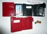 Kožená peněženka s ozdobným rustikálním - universální