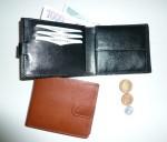 Pánská kožená peněženka se zápinkou