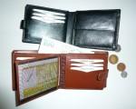 Kožená peněženka se zápinkou - vnitřní řešení