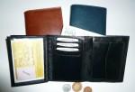 Kožená peněženka pánská - vnitřní řešení