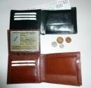 Peněženka universální kožená - vnitřní separace