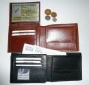 Kožená peněženka pánská - okénko na vnitřní překlápěčce