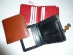 kožená luxusní menší peněženka universální - hovězina lak