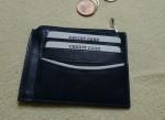 ploché kožené pouzdro na karty a drobné