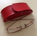 Kožená brýlovka na suchý zip
