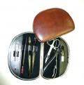 manikura kožená rámečková kulatá