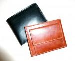 peněženka kožená menší štepovaná, zvenku kapsa na drobné
