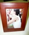 Kožený rámeček na foto na stůl