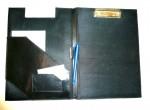 Konferenční kožené desky s klipsem pro psaní objednávek formát A4